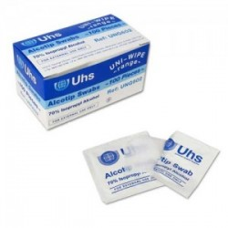 UNI WIPE ALCOTIP FOR INJECTIONS, HANDS, GYM x 30