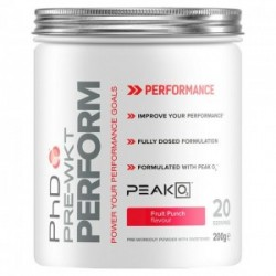 PhD Nutrition Pre Workout Perform 200g Fruit Punch
